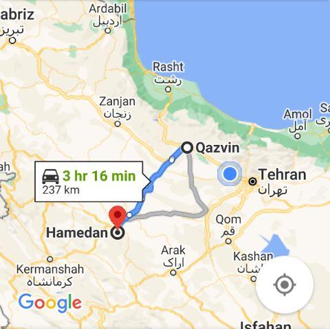 ارزانترین بلیط اتوبوس همدان به قزوین و و قزوین تا همدان