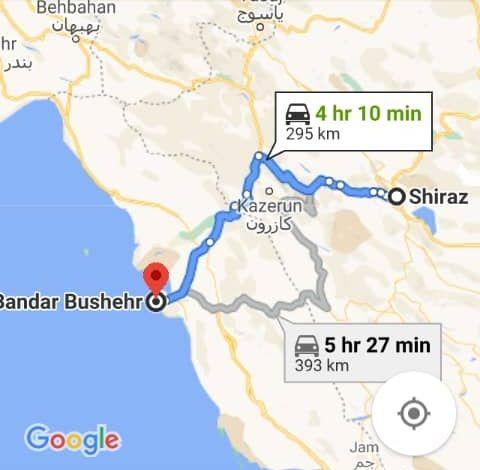 رزرو بلیط اتوبوس بوشهر تا شیراز و شیراز به بوشهر