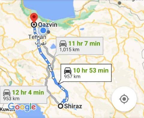 قیمت بلیط اتوبوس قزوین شیراز و شیراز قزوین