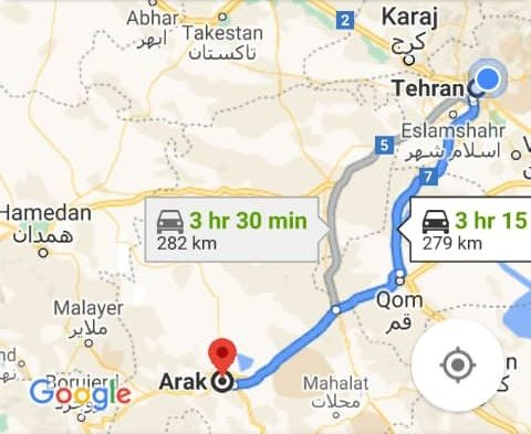 هزینه بلیط اتوبوس تهران اراک و اراک به تهران
