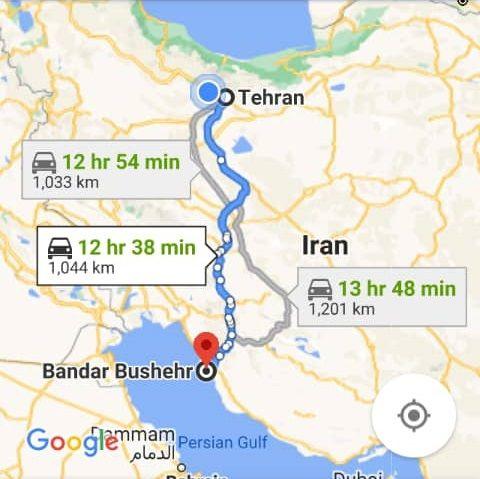 هزینه بلیط اتوبوس تهران بوشهر و بوشهر به تهران