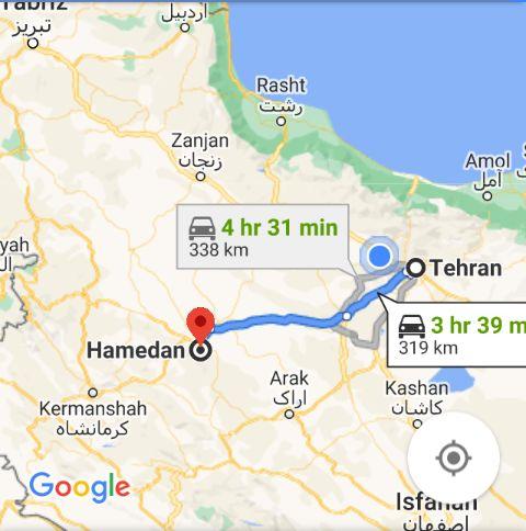 هزینه بلیط اتوبوس تهران همدان و همدان به تهران