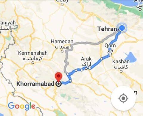 هزینه بلیط اتوبوس تهران خرم آباد و خرم آبادبه تهران