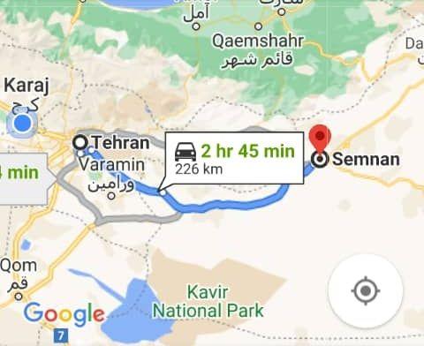هزینه بلیط اتوبوس تهران سمنان و سمنانبه تهران