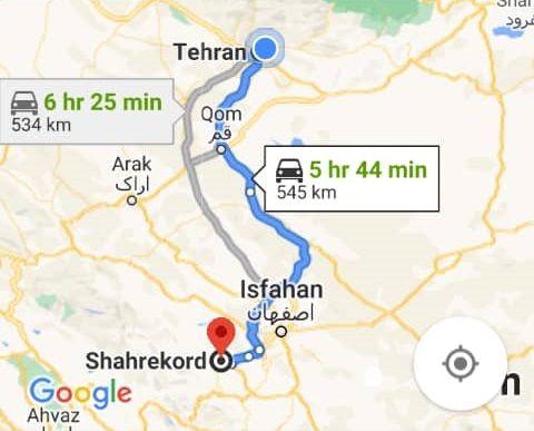 هزینه بلیط اتوبوس تهران شهرکرد و شهرکرد به تهران