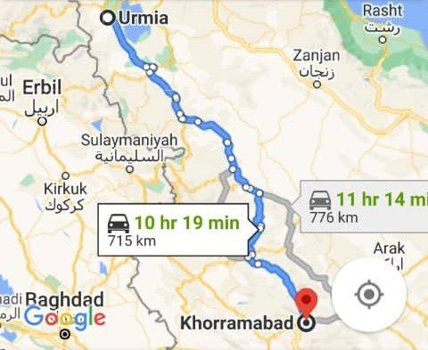 نرخ بلیط اتوبوس ارزان خرم آباد از ارومیه و هزینه و مبلغ بلیط اتوبوس های خرم آبادبه ارومیه