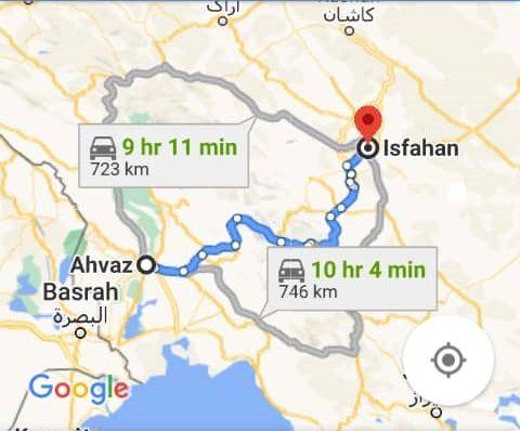 قیمت بلیط اتوبوس اهواز اصفهان و بلیط اتوبوس اصفهان به اهواز