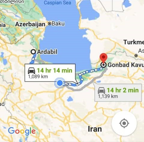 خرید اینترنتی اتوبوس گنبد کاووس به اردبیل و اردبیل به گنبد کاووس