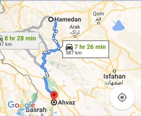 قیمت بلیط اتوبوس اهوازهمدان و بلیط اتوبوس همدان به اهواز
