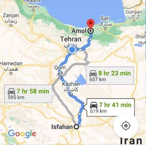 رزرو بلیط اتوبوس اصفهان تا آمل و و آمل به اصفهان