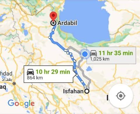 رزرو بلیط اتوبوس اصفهان تا اردبیل و و اردبیل به اصفهان