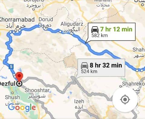 رزرو بلیط اتوبوس اصفهان تا دزفول و و دزفول به اصفهان