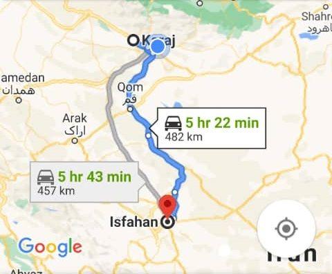 نرخ بلیط اتوبوس کرج اصفهان و اصفهان تا کرج