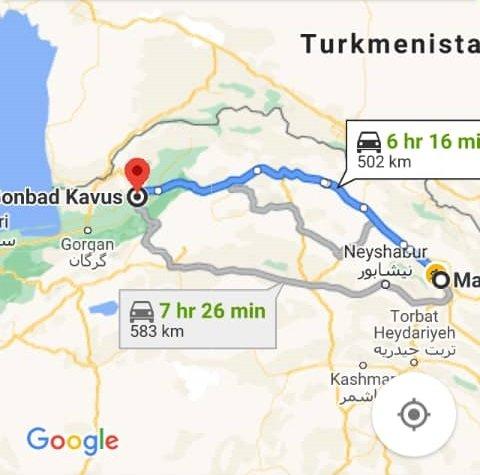 بلیط اتوبوس رفت و برگشت مشهد به گنبد کاووس با ارزانترین قیمت