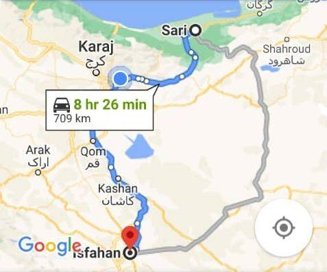 خرید اینترنتی اتوبوس اصفهان به ساری و ساری به اصفهان