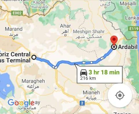 بلیط ارزان قیمت اتوبوس تبریز به اردبیل و اردبیل به تبریز