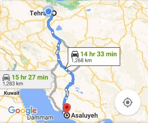 هزینه بلیط اتوبوس تهران عسلویه و عسلویه به تهران