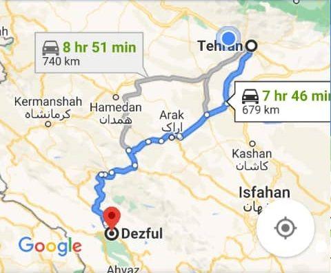 هزینه بلیط اتوبوس تهران دزفول و دزفول به تهران