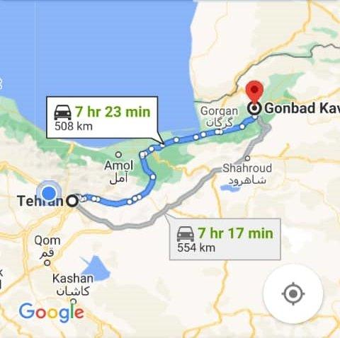 هزینه بلیط اتوبوس تهران گنبد کاووس و گنبد کاووس به تهران