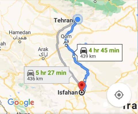هزینه بلیط اتوبوس تهران اصفهان و اصفهان به تهران