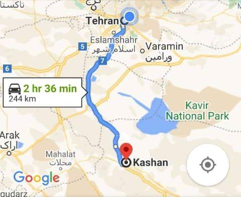 هزینه بلیط اتوبوس تهران کاشان و کاشان به تهران