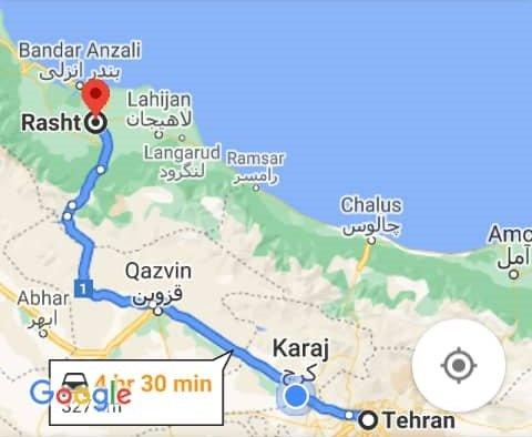 هزینه بلیط اتوبوس تهران رشت و رشت به تهران