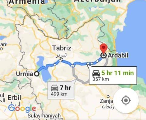 نرخ بلیط اتوبوس ارزان اردبیل از ارومیه و هزینه و مبلغ بلیط اتوبوس های اردبیل به ارومیه